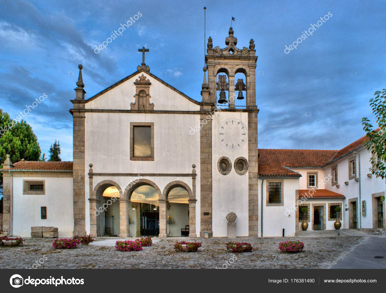 Church in San Francisco Fortress in Chaves, North of Portugal