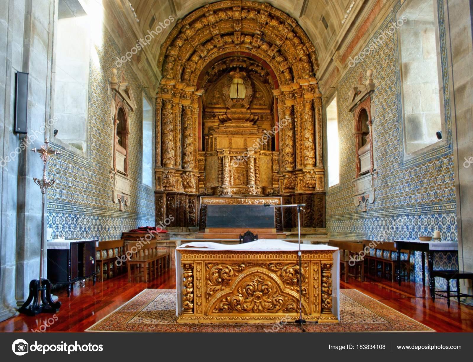 Altar church of Loios in Santa Maria da Feira, Portugal