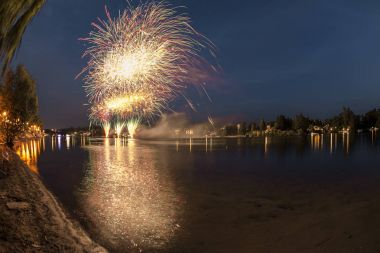 Fireworks on the river, Sesto Calende