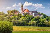 Fotografie Andechs Abbey im Sommer, Landkreis Starnberg, Oberbayern, Deutschland