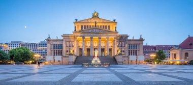 Berlin Concert Hall at Gendarmenmarkt square panorama at dusk, Berlin Mitte, Germany
