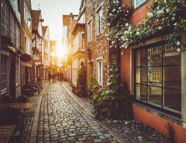 "Картина, постер, плакат, фотообои ""old town in europe at sunset with retro vintage filter effect"", артикул 181635484"