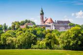 Fotografie berühmte Abtei Andechs im Sommer, Landkreis Starnberg, Oberbayern, Deutschland