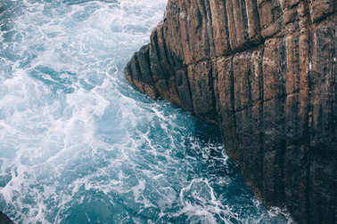 cliff in sea