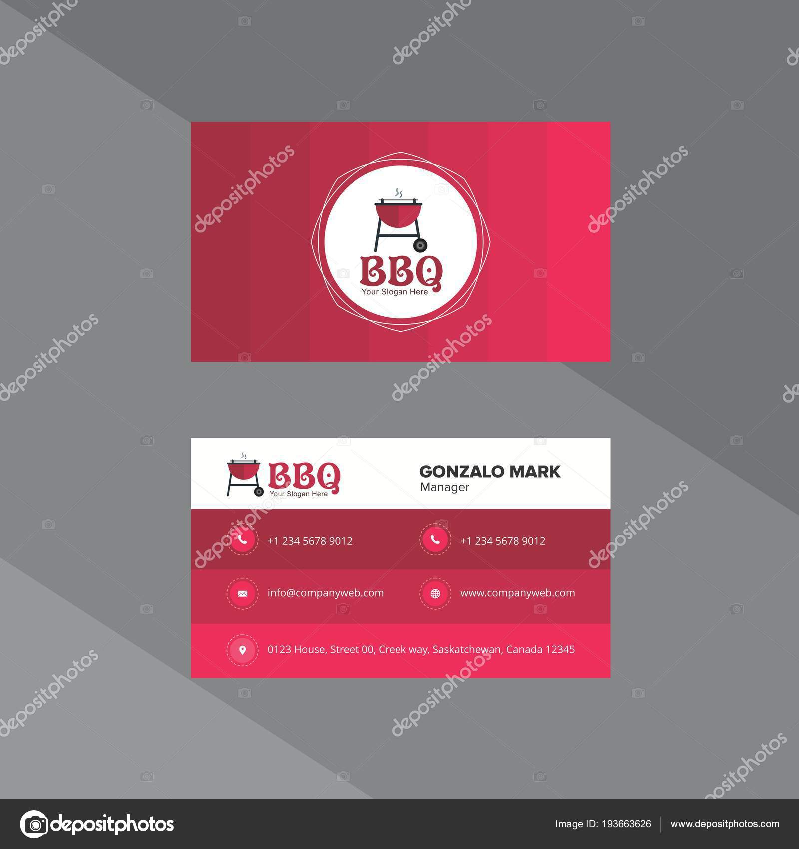 Gradient Business Card in Cherry Shades — Stock Vector © Dxinerz ...