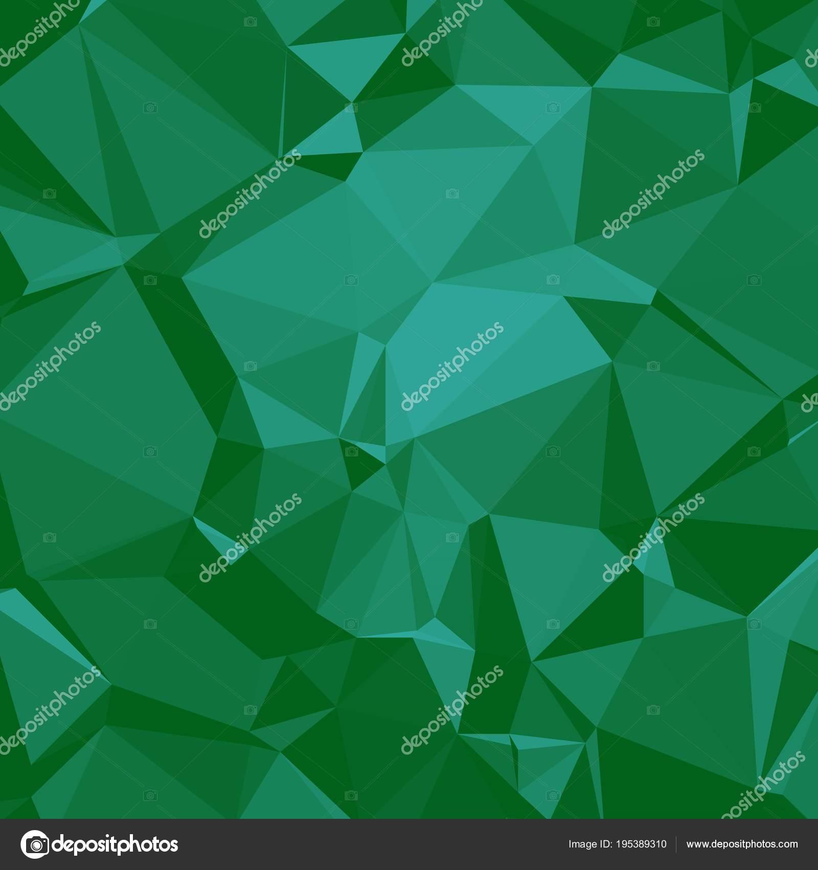 Brillante Fondo Poligonal En Tonos Verde Esmeralda Seaform Vector - Tonos-verde