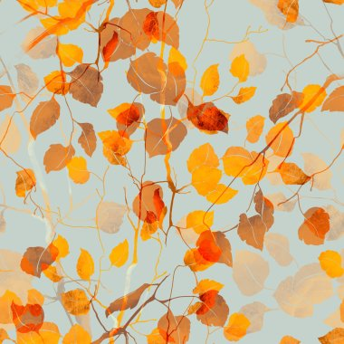 autumn branches with leaves
