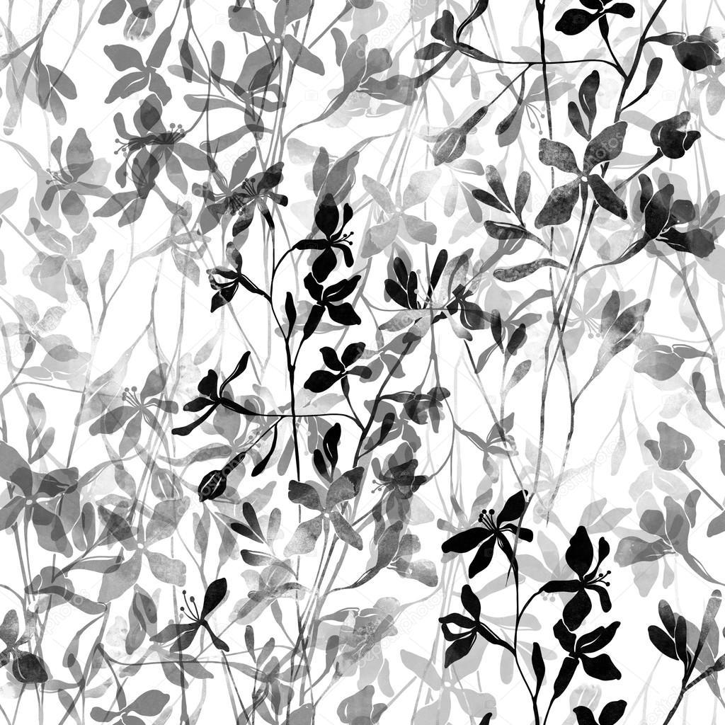 Black And White Flowers Stock Photo Chevnenko 125739812