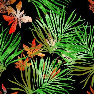 imprints tropical plants
