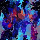 Photo wild lilies seamless pattern