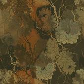 akvarel a digitální ručně tažené bezešvé vzor s potiskem abstraktní květy a suché větvičky
