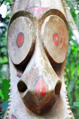 Tam tam-slit gong of the Mage society. Ambrym island-Vanuatu. 6156