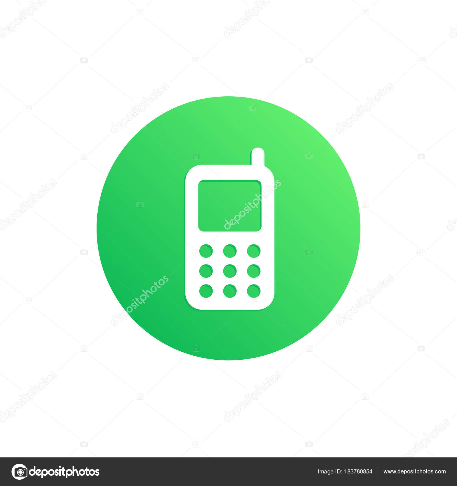 Mobile Green App Button — Stock Vector © kreizihorse #183780854