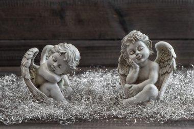 Guardian angel. Christmas decoration. Vintage style