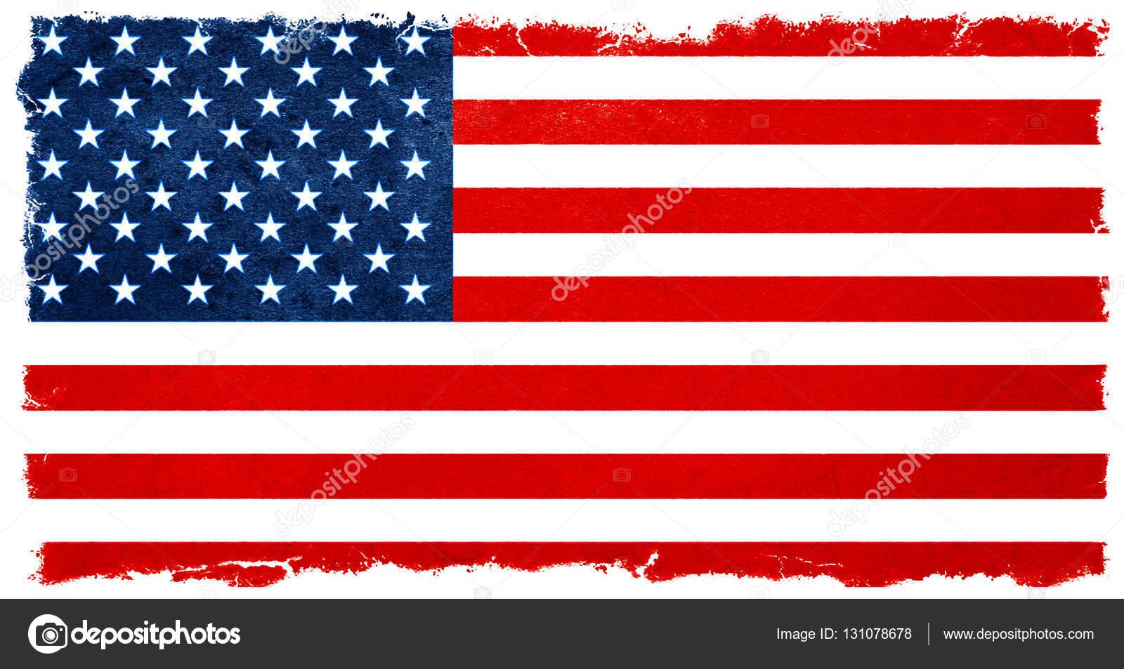 vintage american flag banner background election results stock