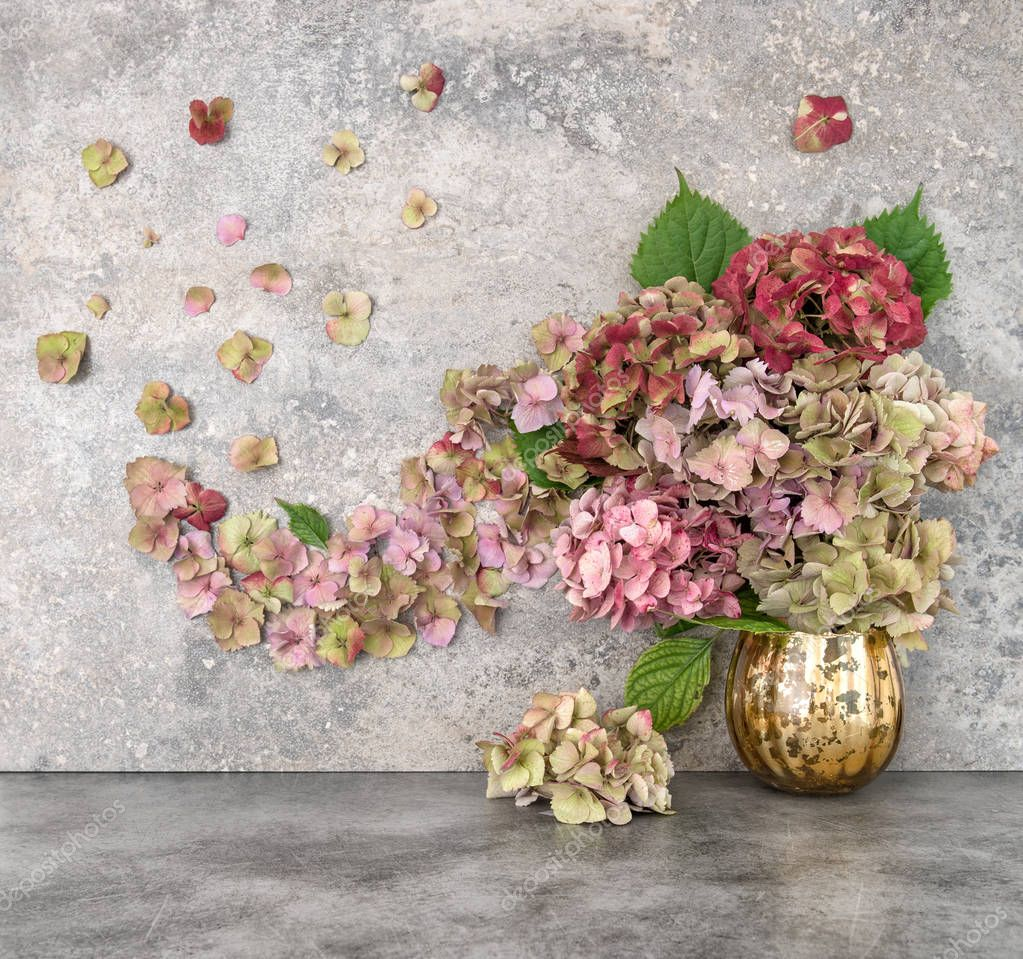 Hortensia flowers bouquet Floral arrangement