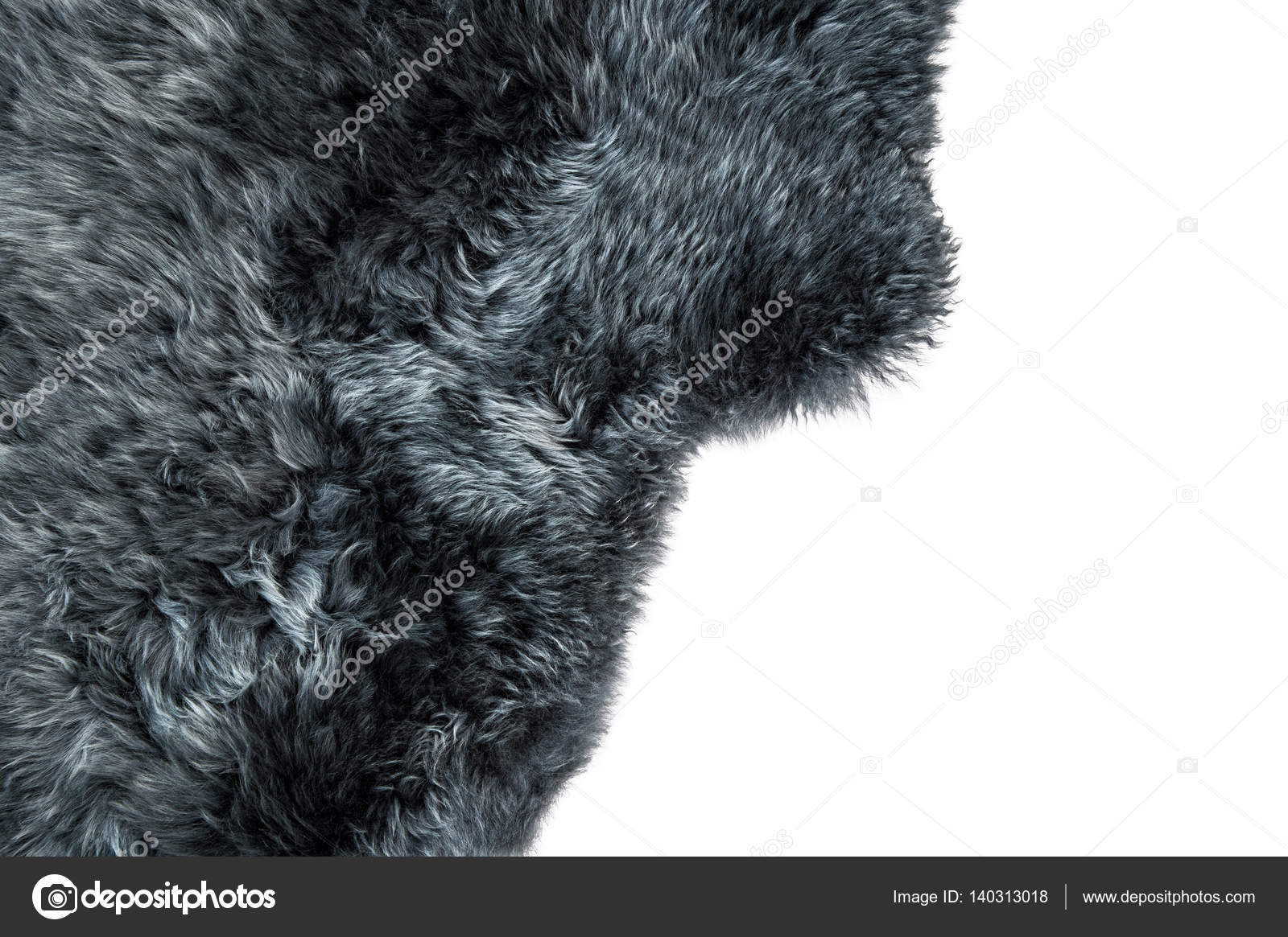 Texture d\'arrière-plan en peau de mouton gris tapis de fourrure ...
