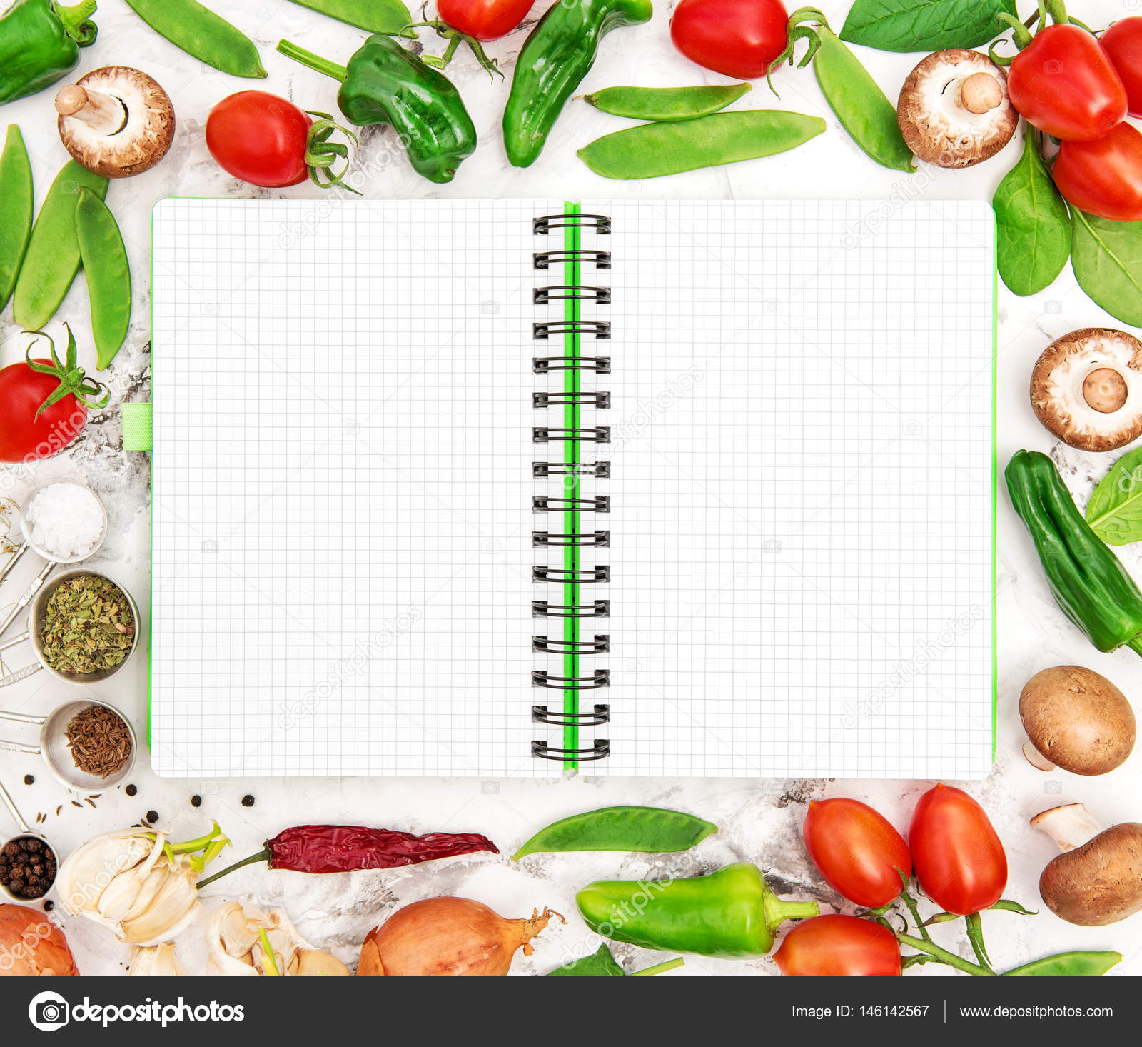 Open recipe book fresh vegetables healthy food organic nutrition open recipe book fresh vegetables healthy food organic nutrition stock photo forumfinder Images