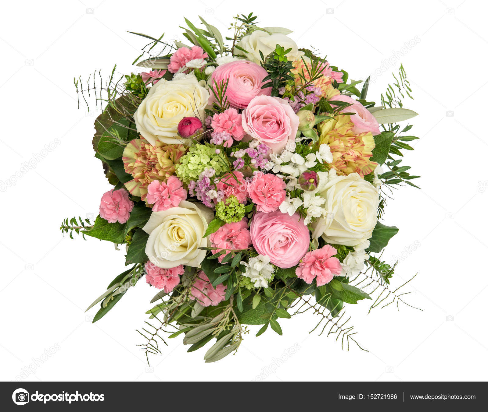 Spring flowers Rose ranunculus carnation flower bouquet — Stock ...