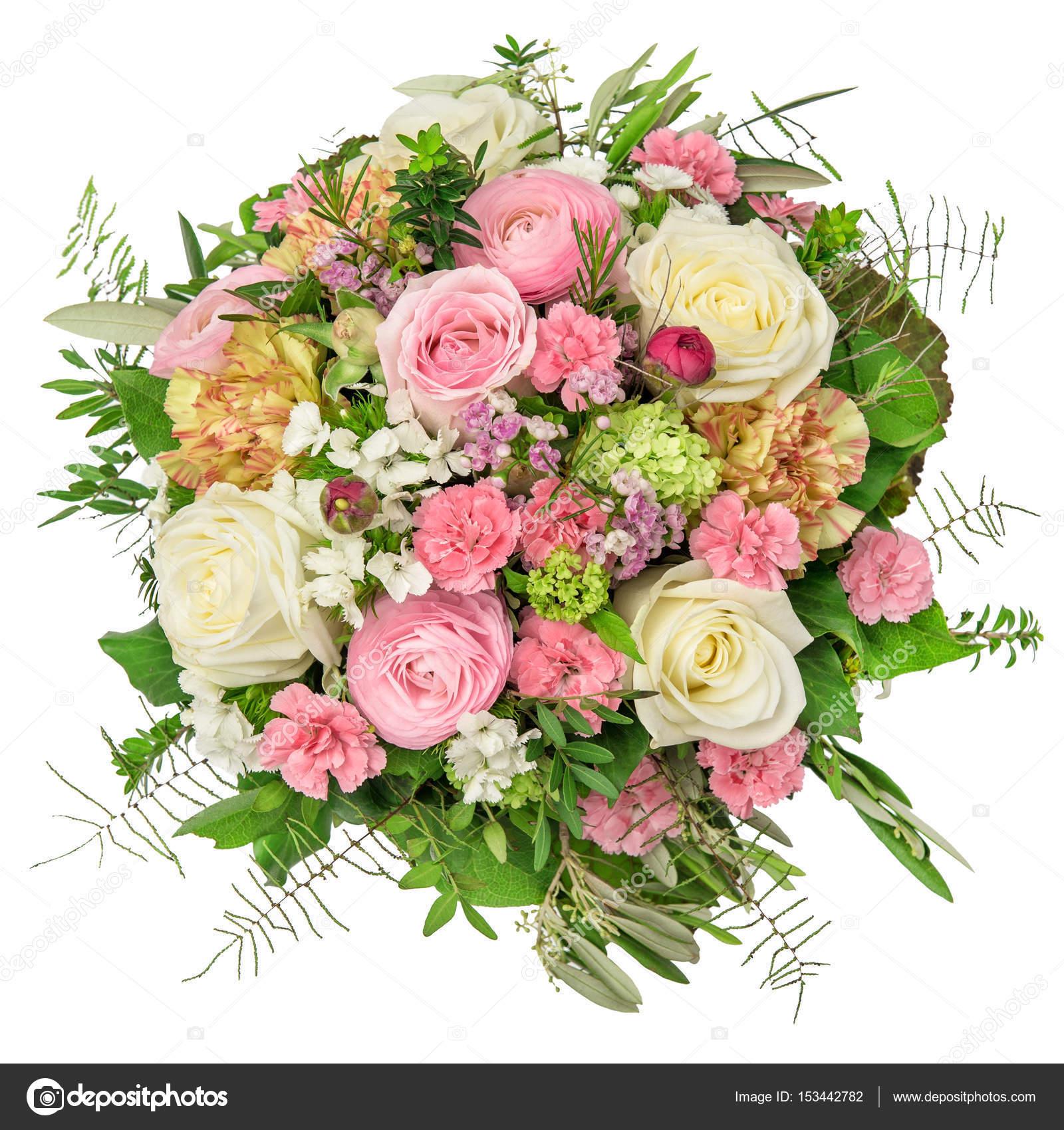 Rose ranunculus carnation flower spring bouquet — Stock Photo ...