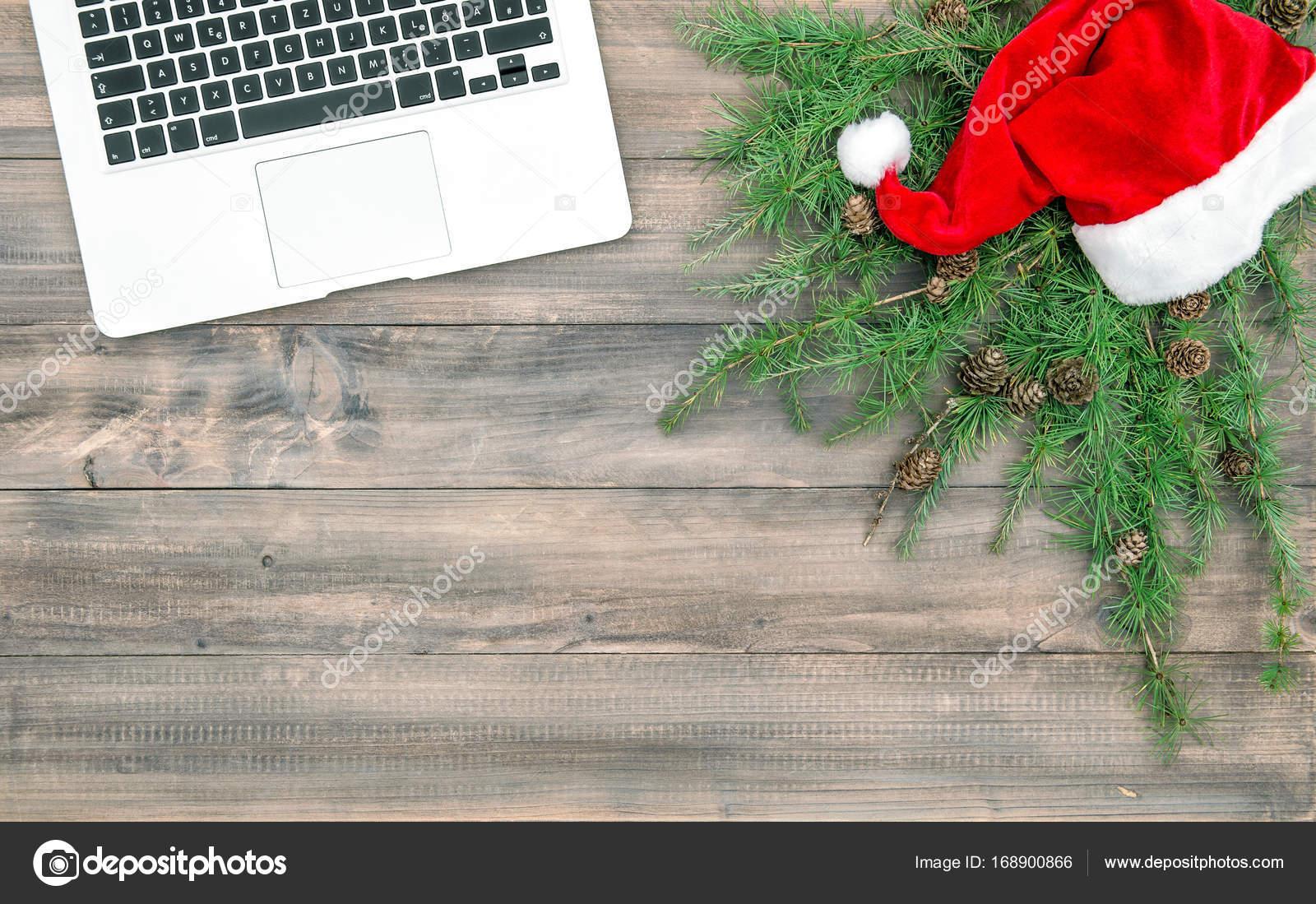 Decorazioni Ufficio Natale : Computer portatile di natale decorazione ufficio reception