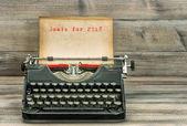Starožitné psací stroj papíru cíle pro rok 2018 obchodní koncept