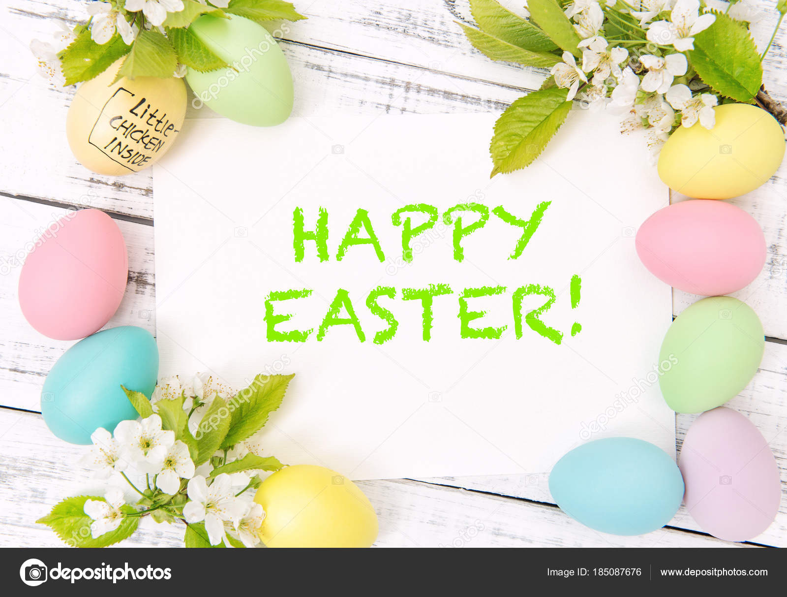 Easter greetings card eggs decoration spring flowers stock photo easter greetings card eggs decoration spring flowers stock photo kristyandbryce Gallery