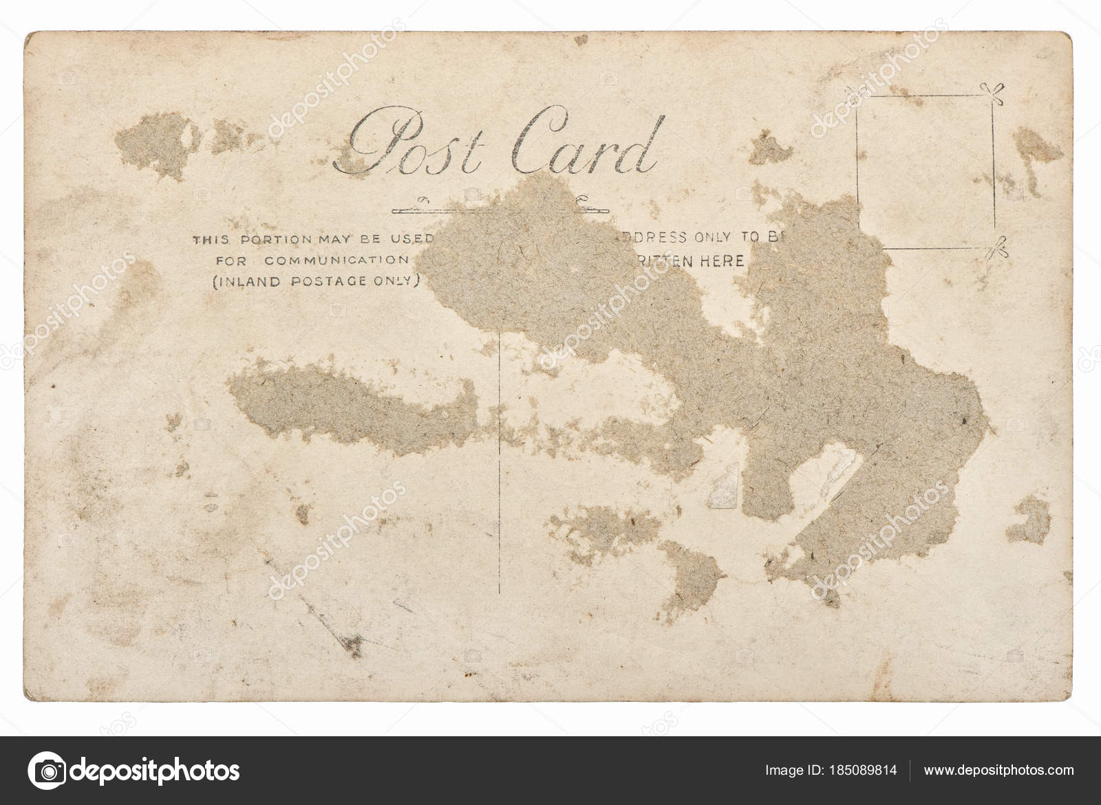 Used antique postcard mail Vintage retro paper background — Stock Photo