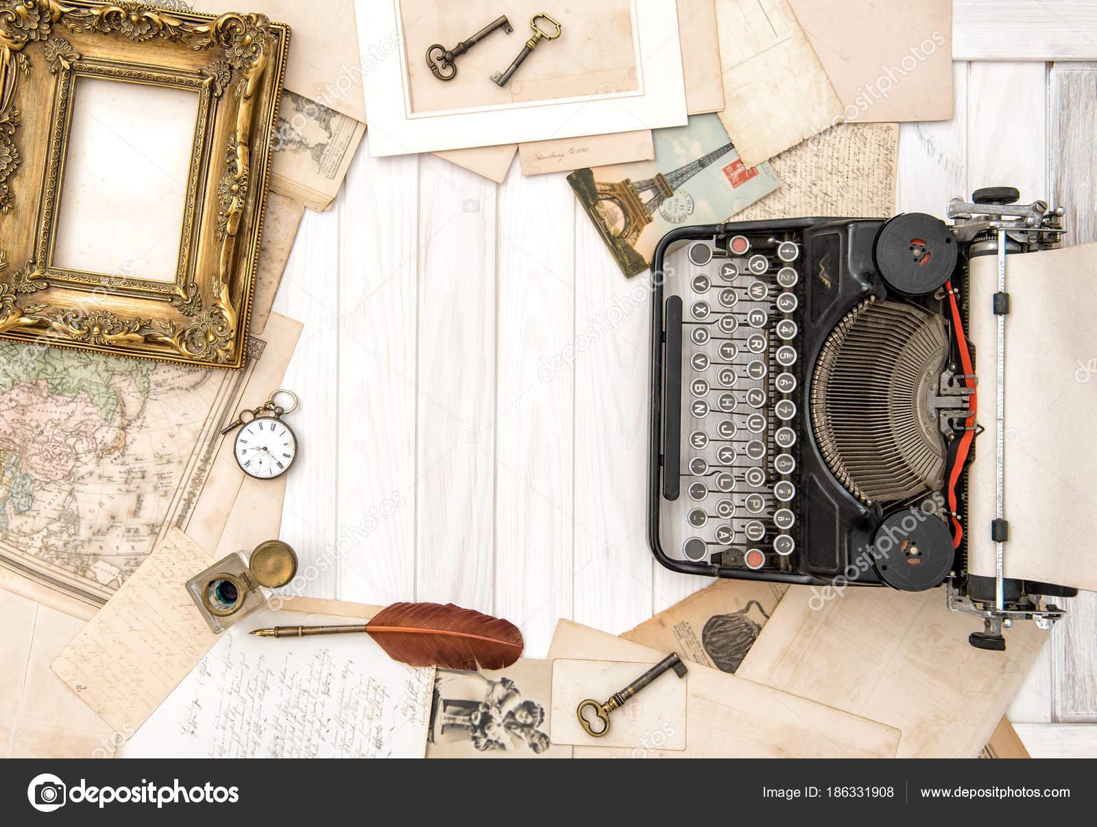 Accessoires de bureau vintage plat poser antique dactylographier