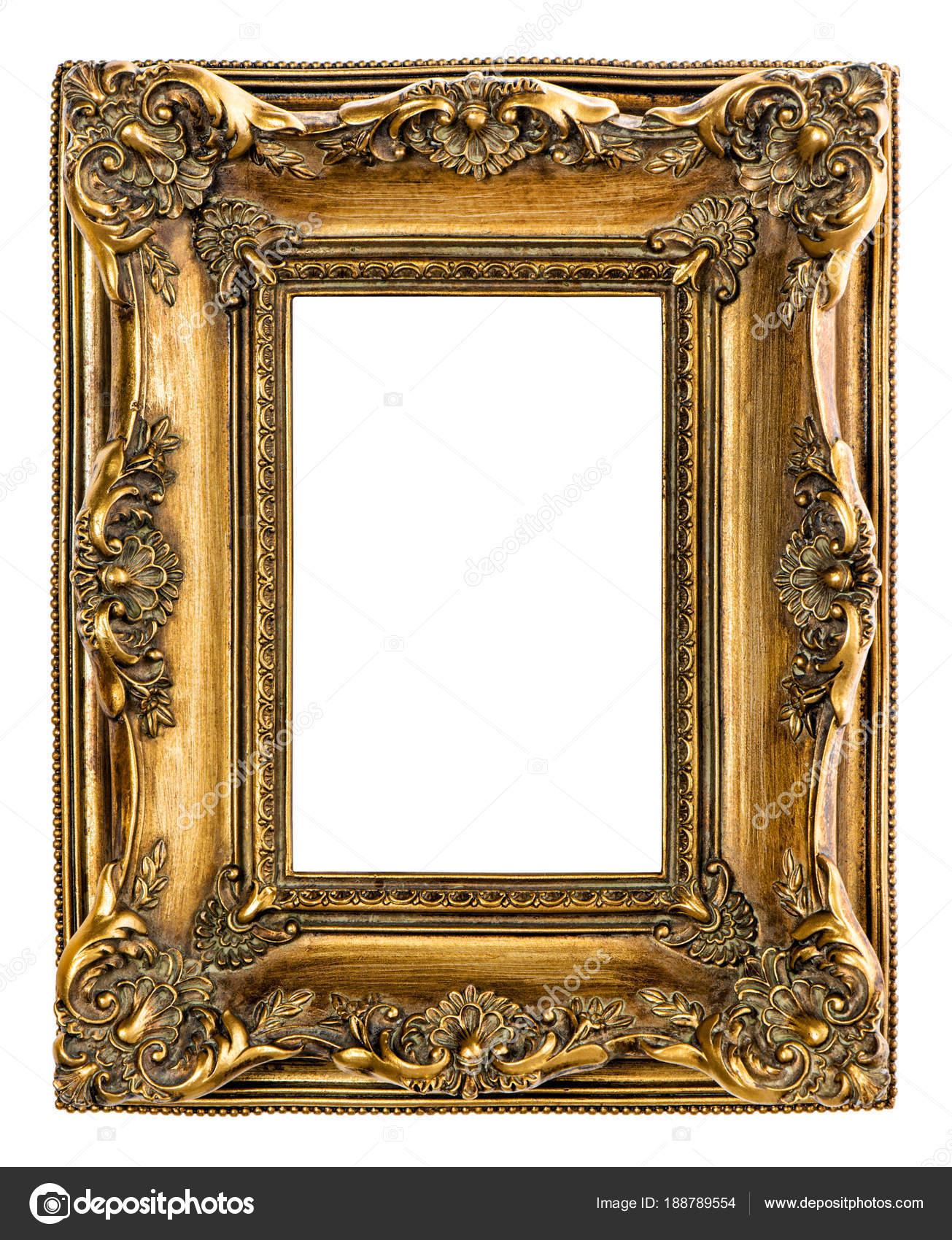 Fondo blanco de oro cuadro marco aislado — Foto de stock ...