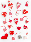 Červené srdce Valentýn pozadí