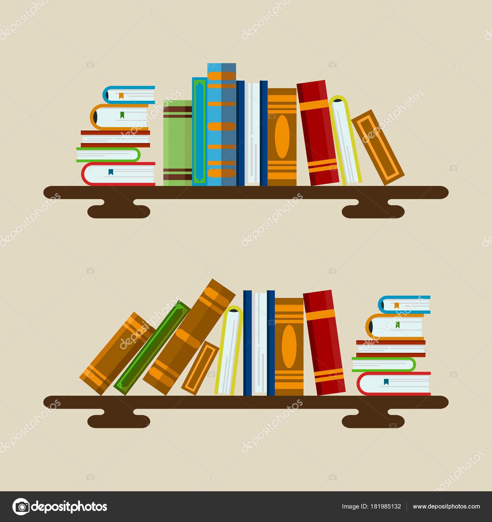 Vector ilustración de libros coloridos — Vector de stock © kololo15 ...