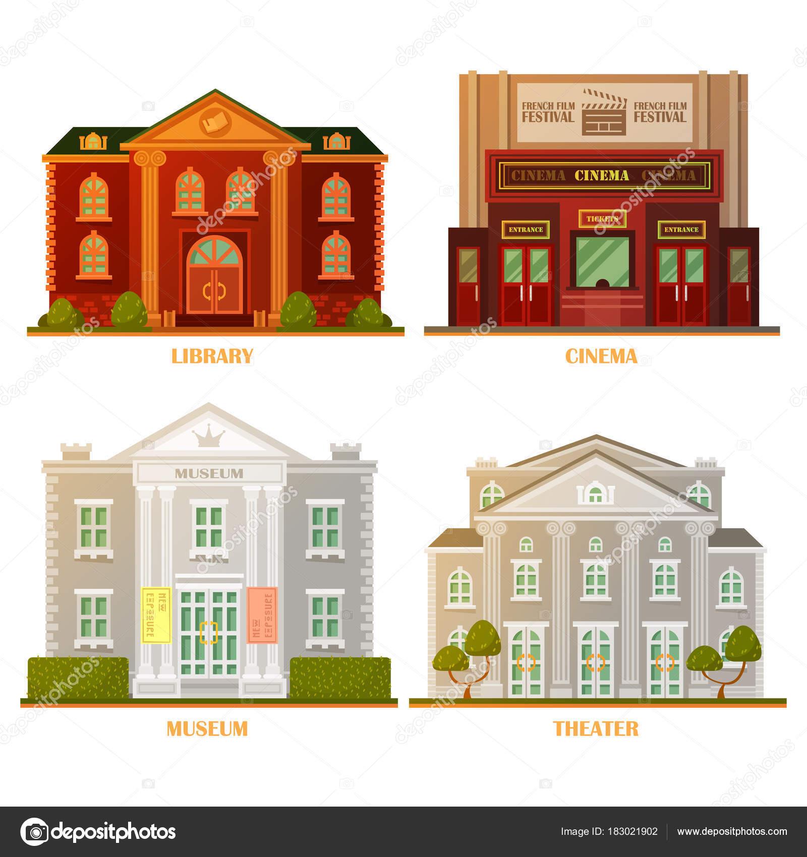 Architektur: Kino, Theater, Museum und Bibliothek Gebäude ...