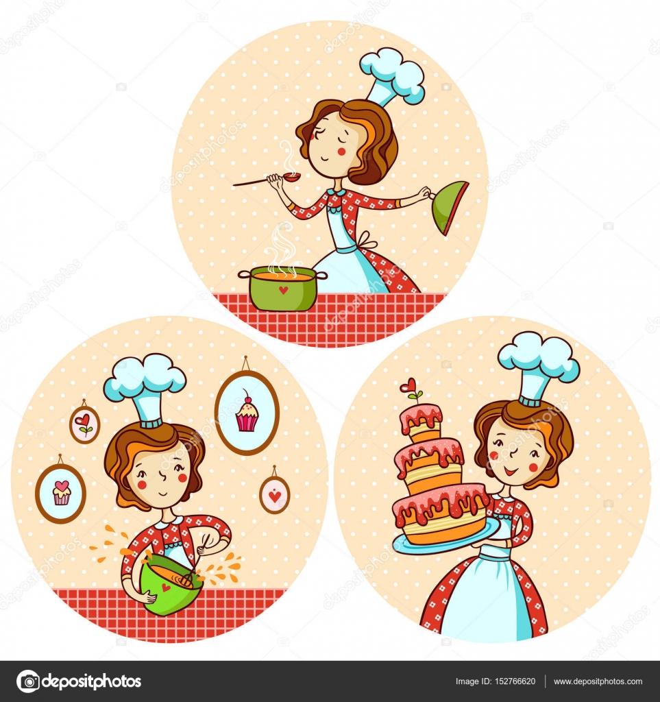 Con cocina chica archivo im genes vectoriales svaga for Cocinar imagenes animadas