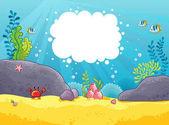 Fotografie Meeres-Themenpark mit Platz für text