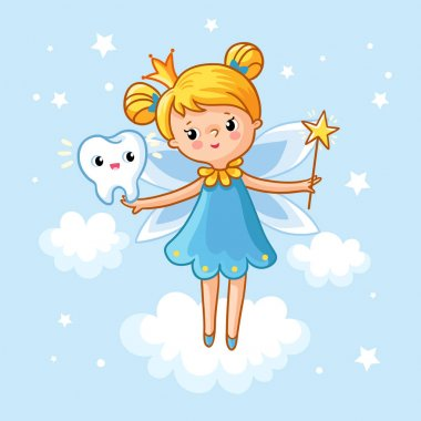 Lovely fairy with tooth