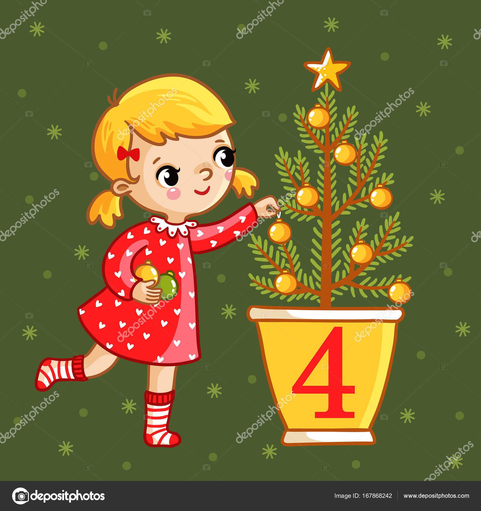 Calendario Di Avvento Per Bambini.Illustrazione Avvento Bambini Calendario Dell Avvento