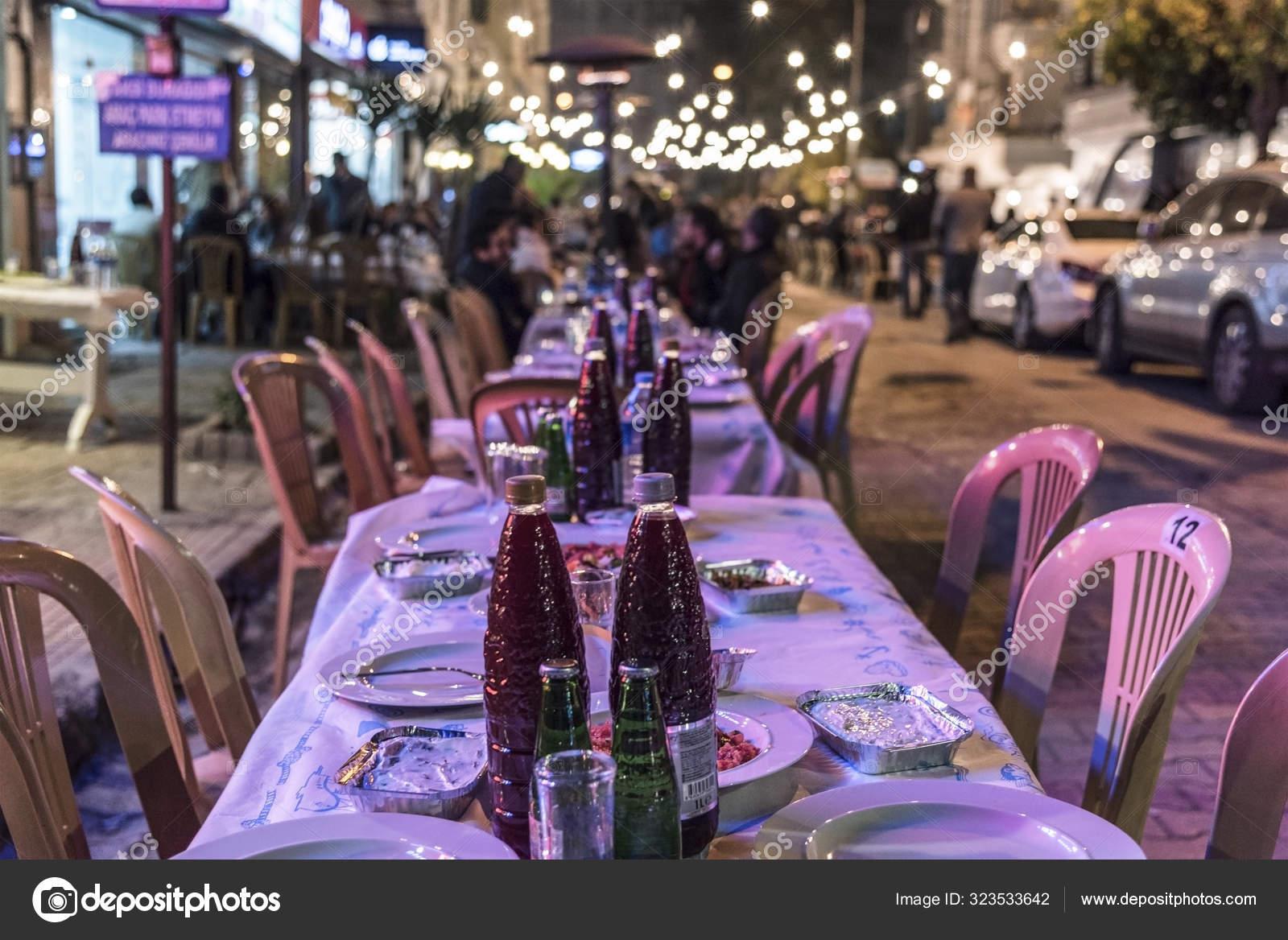 Outdoor Restaurant Tables Traditional Festival Salgam Adana Kebab Festive Turkey Stock Editorial Photo C Photo Ba 323533642
