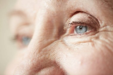 Eyes of elderly woman