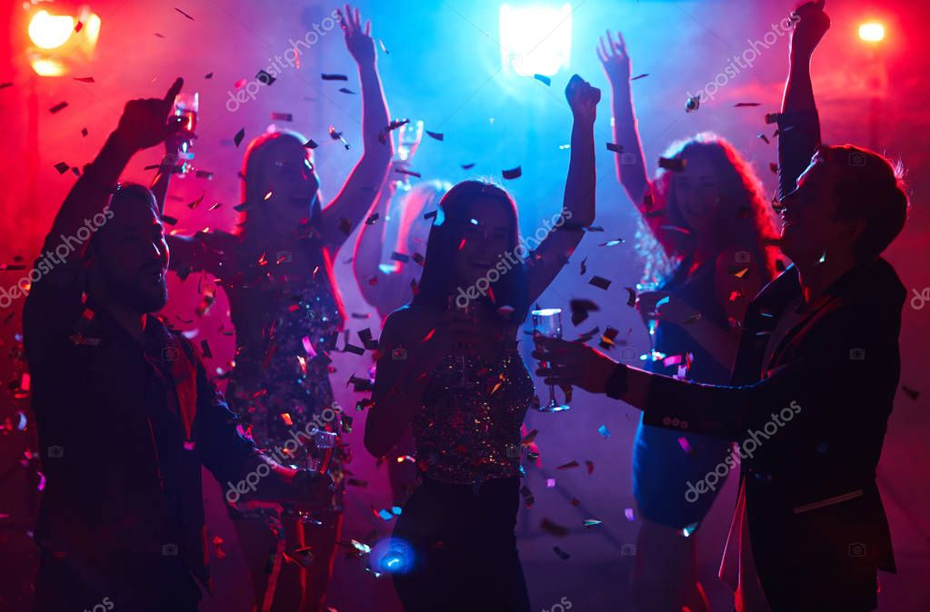 people having party in night club