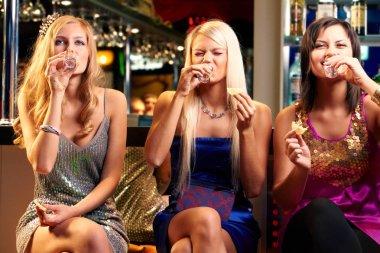 girls drinking vodka