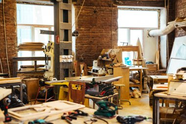 Workplace of cabinetmaker  in workshop