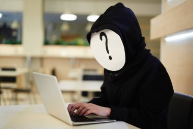 Anonymous hacker at work