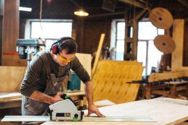 Man in eyeglasses and headphones