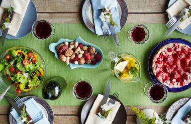 Fresh homemade food and drinks