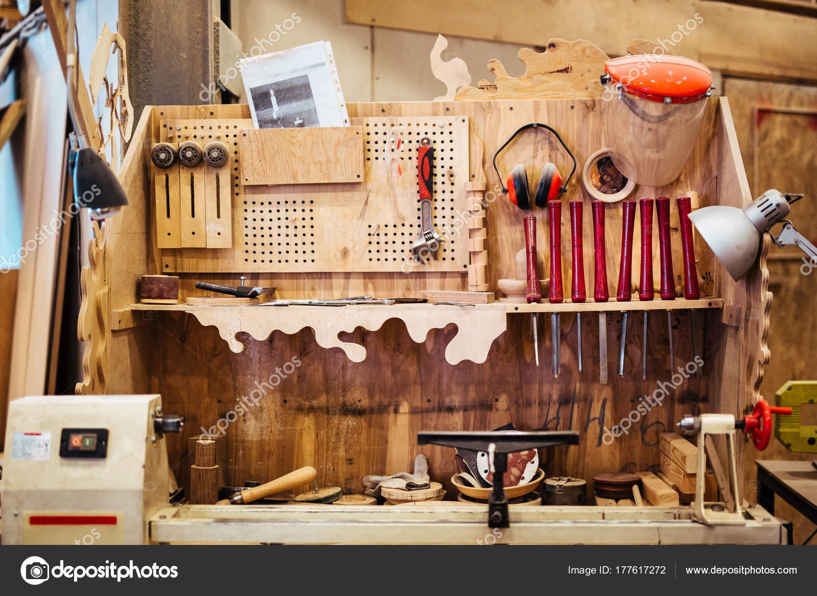 Background Image Woodworking Workshop Carpenters Work Table