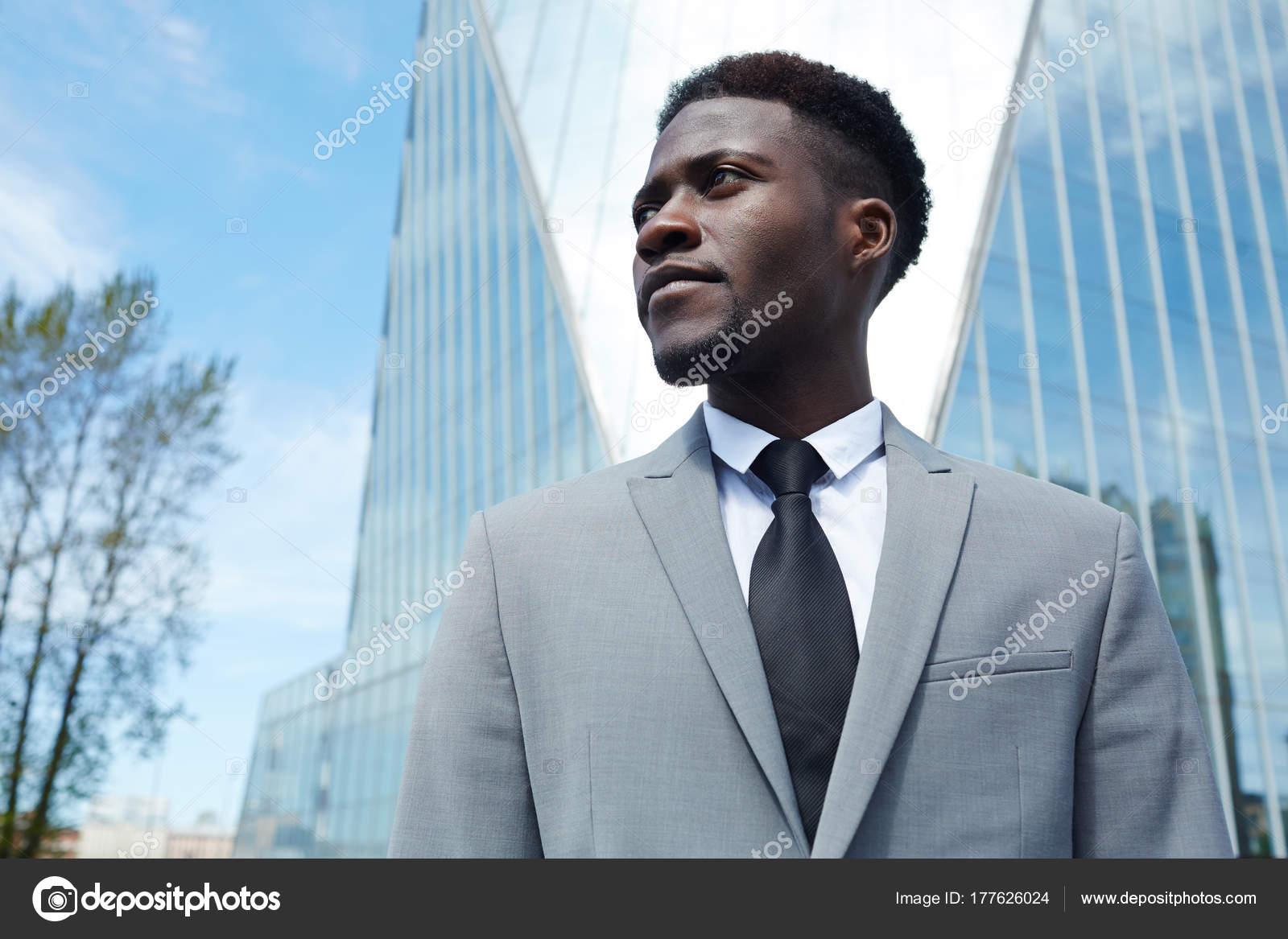 Young Employee Grey Suit Tie — Stock Photo © pressmaster #177626024