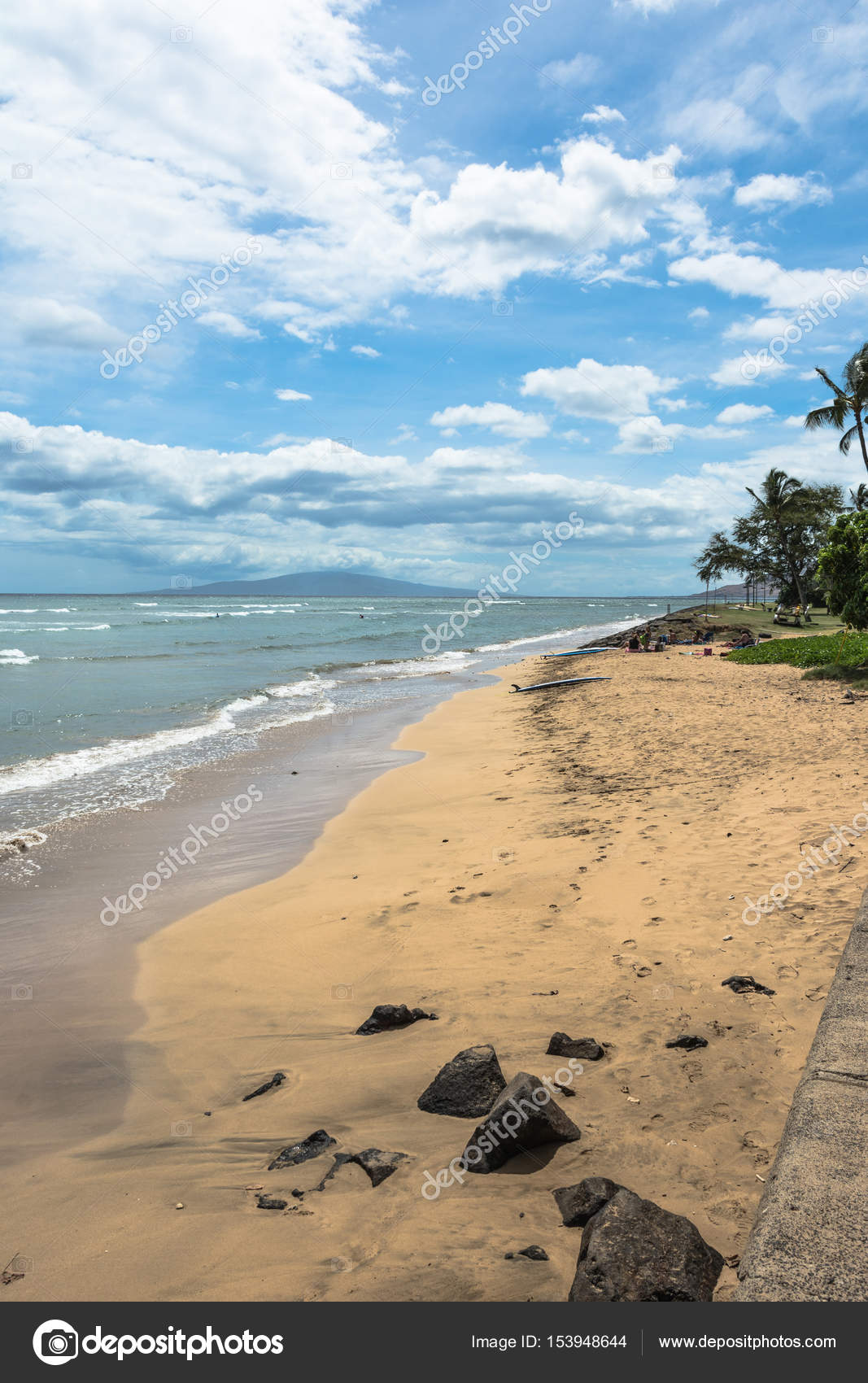 Kaanapali Beach Maui Hawaii Stock Photo C Pikappa 153948644