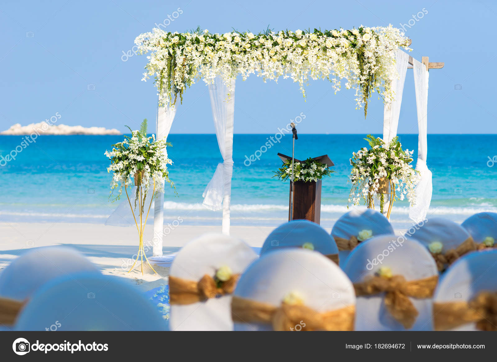 Floral flowers wedding arches decoration wedding altar beach wedding floral flowers wedding arches decoration wedding altar beach wedding venue stock photo junglespirit