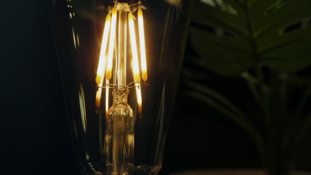 Klasická edisonová žárovka zblízka